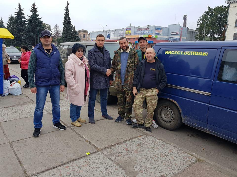 Представники «Народного фронту» направили гуманітарну допомогу в зону надзвичайної ситуації на Чернігівщині