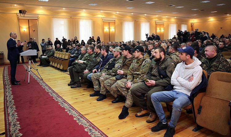 Арсен Аваков та Андрій Парубій нагородили бійців добровольчого батальйону імені Кульчицького (фоторепортаж)