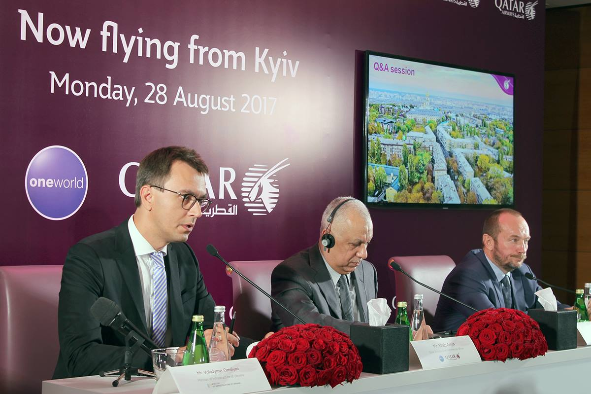 Володимир Омелян: Авіакомпанія номер один у світі відтепер працює в Україні